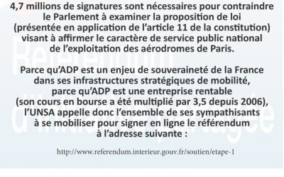Pétition en ligne du NON à la privatisation d'ADP (Aéroports de Paris)