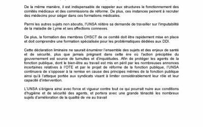Déclaration liminaire UNSA CHSCT DDI 22 mai 2019