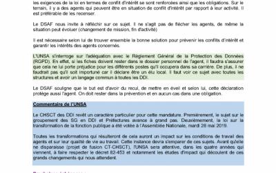 UNSA Compte rendu CHSCT des DDI 22 mai 2019