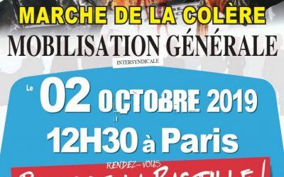 02 octobre 2019 – MARCHE DE LA COLÈRE