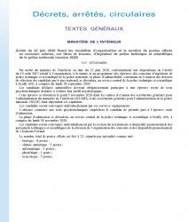 Arrêté du 22 juin 2020 fixant les modalités d'organisation et le nombre de postes offerts au concours externe, sur titres et travaux, d'ingénieur de police technique et scientifique de la police nationale (session 2020)