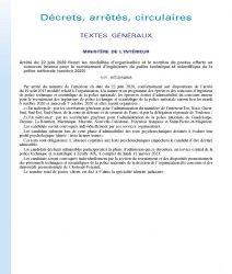 Arrêté du 22 juin 2020 fixant les modalités d'organisation et le nombre de postes offerts au concours interne pour le recrutement d'ingénieurs de police technique et scientifique de la police nationale (session 2020)