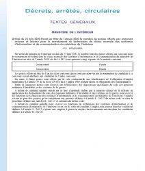Arrêté du 23 juin 2020 fixant au titre de l'année 2020 le nombre de postes offerts aux concours externe et interne pour le recrutement de techniciens de classe normale des systèmes d'information et de communication du ministère de l'intérieur