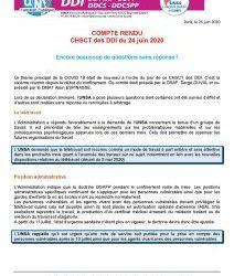 CHSCT des DDI du 24 juin 2020