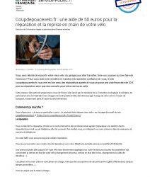 Coupdepoucevelo.fr : une aide de 50 euros pour la réparation et la reprise en main de votre vélo