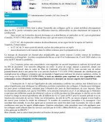 Déclaration liminaire CT Administration Centrale (AC) du 14 mai 20