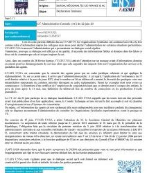 Déclaration liminaire CTAC du 22 juin 20