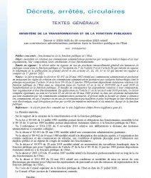 Décret no 2020-1426 du 20 novembre 2020 relatif aux commissions administratives paritaires dans la fonction publique de l'Etat
