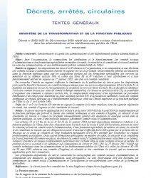 Décret no 2020-1427 du 20 novembre 2020 relatif aux comités sociaux d'administration dans les administrations et les établissements publics de l'Etat