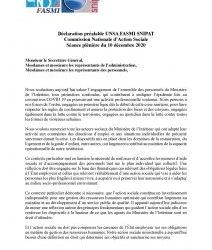 Déclaration préalable UNSA FASMI CNAS 10 décembre 2020