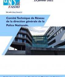 Comité Technique de Réseau de la direction générale de la Police Nationale – 19 janvier 2021