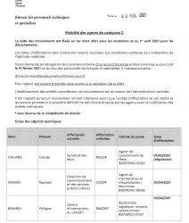 Mobilité catégorie C technique au 31 janvier 2021