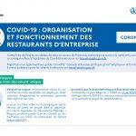 COVID-19 : Organisation et fonctionnement des restaurants d'entreprise.