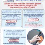 Circulaire du 5 juillet relative aux autorisations spéciales d'absence dans la FPE pour la vaccination contre la Covid 19