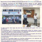 La délégation UATS-Unsa en Guadeloupe a rencontré le Colonel Vincent LAMBALLE commandant de la gendarmerie de la Guadeloupe et des iles du nord.