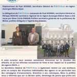 Déplacement en région Auvergne-Rhône Alpes su Secrétaire Général de l'UATS-Unsa