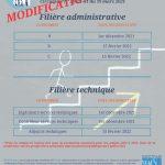 Modification des dates du calendrier national d'avancement 2022